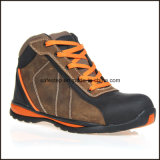 Chaussures de sûreté de temps de travail de cuir véritable