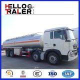 Caminhão de petroleiro resistente do petróleo do caminhão de petroleiro do combustível de Sinotruk 8X4 25m3
