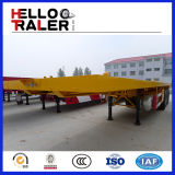 China New Manufacture 40t 3 Axles Trailer mit Flat Bed