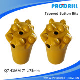 Tungsten affusolato Carbide Button Rock Drill Bit per Rock Drilling