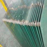 vidro Tempered desobstruído de 12mm com borda Polished para o chuveiro e a porta
