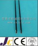 6060 perfiles de aluminio de la protuberancia del anodizado en negro T5 (JC-P-84032)