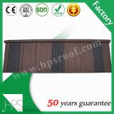 Tuiles de toiture enduites en métal de sable de bonne qualité
