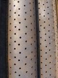 Tubo perforado de la cubierta del acero de carbón