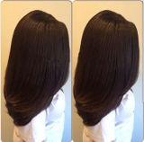 Peruca cheia brasileira do laço de Glueless do cabelo humano do Virgin bonito da forma