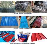 シートによって波形を付けられる電流を通された鋼板に屋根を付ける0.12-0.8mmの鋼材