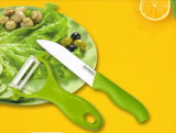 6PCS Ceramic Fruit Forks mit Chopping Boad/Knife/Peeler Set