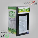 Mini réfrigérateur de barre de partie supérieure du comptoir simple de porte avec du CE (SC52B)