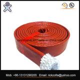 シリコーンの上塗を施してある編みこみのガラス繊維の火の袖