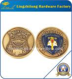 Pièce de monnaie personnalisée de revers de police d'or