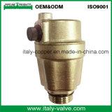 Valvola a sfera d'ottone certificata Ce del cunicolo di ventilazione di garanzia di qualità (IC-3067)