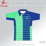 Healongのスポーツ・ウェアの工場価格の昇華物メンズポロシャツ