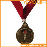 Antique poco costoso Brass Metal Medal per Competition (YB-m-016)