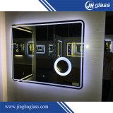 El LED iluminado confinó el espejo con el sensor del tacto, pista antiniebla