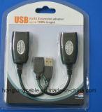 Unité d'extension d'USB au-dessus de câble simple de Cat5e/CAT6 UTP
