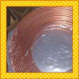 Tubulação do cobre da bobina da panqueca