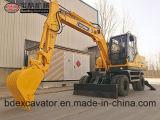 Excavatrices sur pneus Baoding avec perceuse, perceuse rotative, marteau