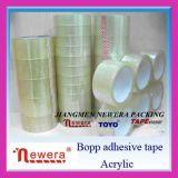 Hecho en la cinta de acrílico transparente de poco ruido de China BOPP y la cinta de aislamiento calificada del embalaje del rectángulo de OPP