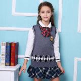 後輩および年長の女の子の高等学校のユニフォームのスーツのベストのワイシャツはユニフォームを遊ばす
