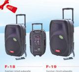 De navulbare Doos van de Spreker van de Batterij met Draadloze Microfoons USB/SD Bluetooth (F18)