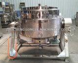 Pimienta negra industrial que hace la caldera vestida con el mezclador