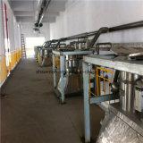 Station de décharge de combinaison de transport de poudre