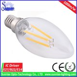 Luz de bulbo del filamento de Dimmable Ce&RoHS E27 A60 4W LED