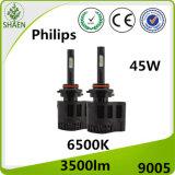 faro automatico della lampada di 25W 3500lm P6 Philips LED per l'automobile