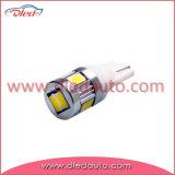 W5W T10 de la cuña de bus CAN blanco, amarillo, rojo, verde, azul de la iluminación del coche LED