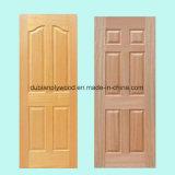 Ceniza del precio/teca/Sapeli barato/piel moldeada HDF/MDF de la puerta de la chapa del roble