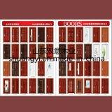 固体木の火の評価される自然な木製のベニヤのドア