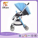 Облегченная портативная голубая прогулочная коляска детской дорожной коляски с колесами ЕВА