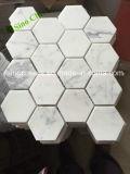 목욕탕 도와를 위한 경쟁가격 Bianco Carrara 백색 대리석 모자이크