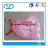 Bolso de basura plástico del lazo de Diaposable