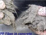 Fibra fibrilada monofilamento dos PP da fibra do Polypropylene da onda da torção para o concreto