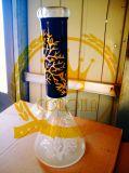 Tubos de cristal del vidrio del cenicero del arte del tazón de fuente alto del color del tabaco del reciclador de la alta calidad del tubo de agua del vidrio rojo de la ducha del Birdcage de la bola de rodillo del panal de Adustable que fuman
