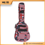 saco da guitarra 41inch com teste padrão impermeável da bandeira da tela do escudo