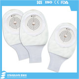 Quente-Vendendo o saco branco da colostomia para a pessoa de Ostomy, corte máximo: 65mm