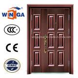 Puerta de acero del cobre de la seguridad del metal del hierro de bronce del color (W-STZ-03)