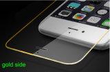 金の側面の完全なカバーとのiPhoneのための携帯電話の緩和されたガラススクリーンの保護フィルム