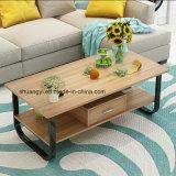 Tabella o tavolino da salotto di estremità di legno del salone poco costoso bianco