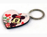 Souvenir Keyring Sublimation Printable Heart Shape MDF Keychain