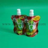 種類のジュース、ミルクのための口が付いているスタンドアップ式の袋袋