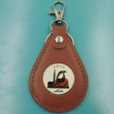 Plutônio Leather Key Ring da forma de Cutomized (XD-0206)
