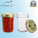 piccolo vaso di vetro 50ml con la protezione dell'aletta per scopo di imballaggio per alimenti