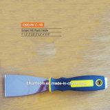 Couteau de mastic en plastique de traitement de point de contact du double C-06
