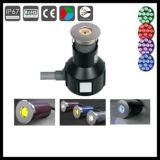 Mini luces ahuecadas 1X3w del patio LED Inground de DC12V 24V
