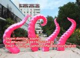 Pattes roses gonflables de poulpe pour la décoration de construction