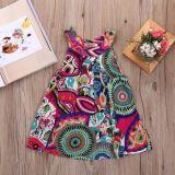 Kind-Kleidung Condole Riemen gebrochenes Blumen-Kleid der Mädchen
