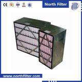 Filtro dell'aria medio della casella della fibra sintetica